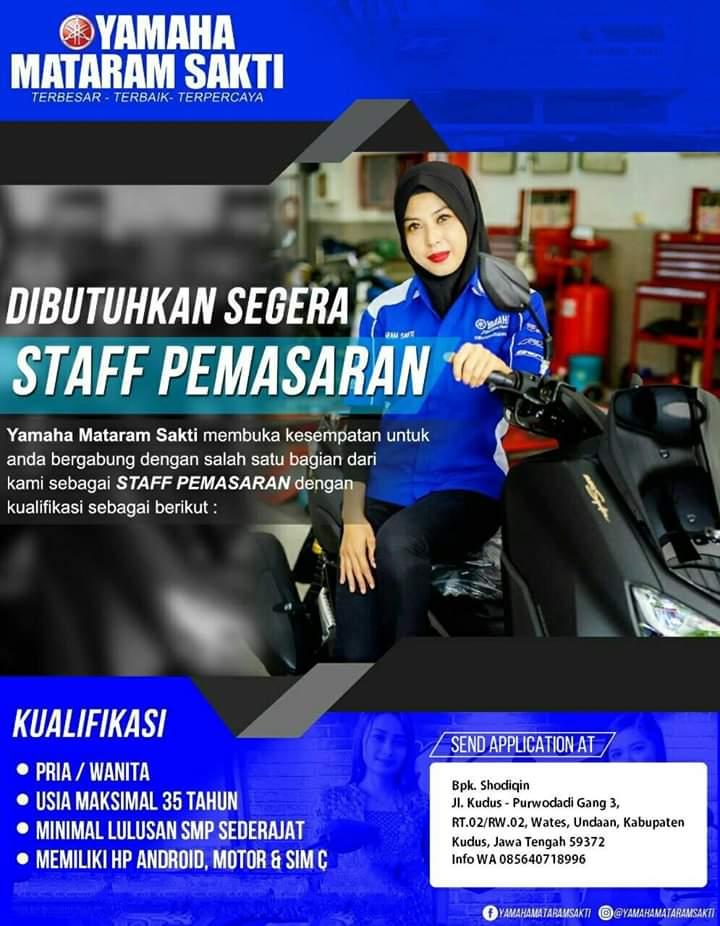 Lowongan Kerja Pt Yamaha Mataram Sakti Marketing Undaan Kudus Loker Swasta