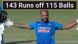 Shikhar Dhawan 143 Runs off 115 Balls