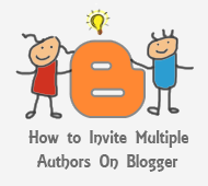 invite multiple authors on blogger