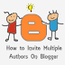 How to Add or Invite Multiple Authors on Blogger