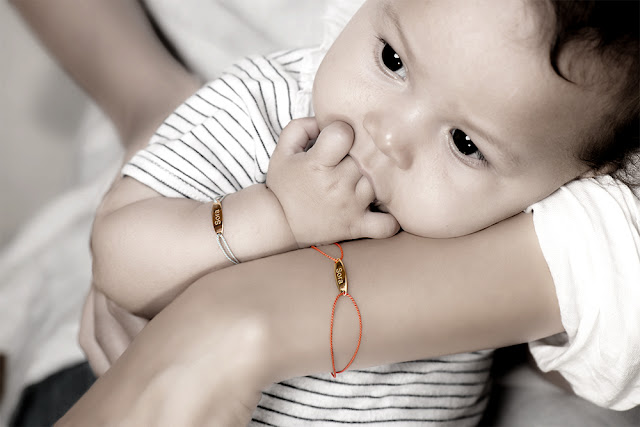 K18 Cord Bracelet for Baby&Mom