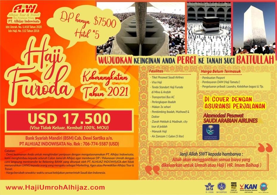 Alhijaz Indowisata Haji Furoda 2021