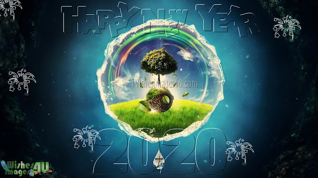 New year 2020 3D Wallpapers Download