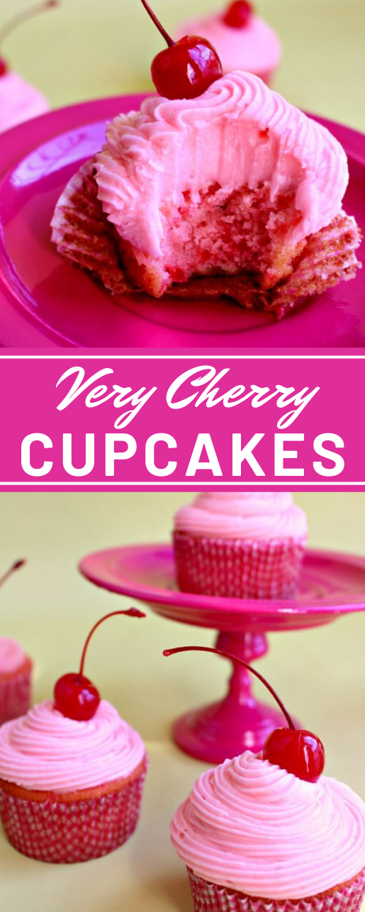 Very Cherry Cupcakes #desserts #cupcakes #cherry #pumpkin #easy