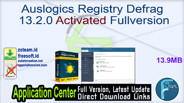 Auslogics Registry Defrag 13.2.0 Activated Fullversion