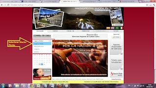 Ingressos para Machu Picchu e Montanhas - 2. Selecionar Machu Picchu