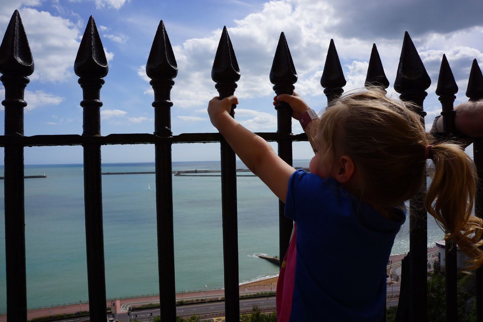 fence by dover castle seaside
