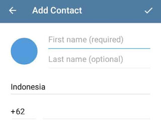 menambah kontak di telegram