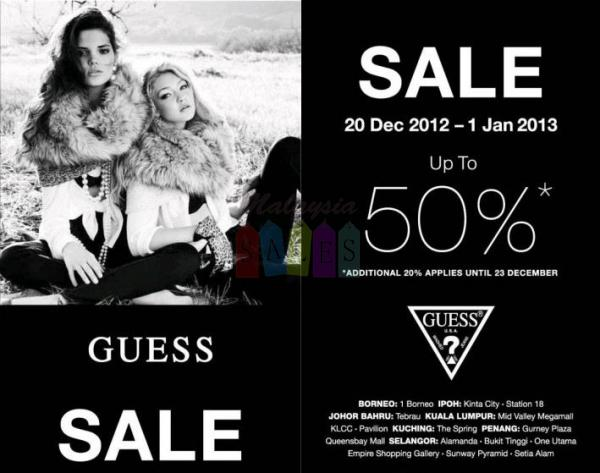 Sales in Malaysia: Guess Sale Up to..