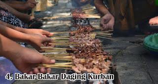 Bakar-Bakar Daging Kurban merupakan salah satu kegiatan seru yang dilakukan saat Idul Adha