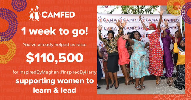 Donations to CAMFED in honour of Meghan and Harry's 2020 Birthdays now exceed $110k