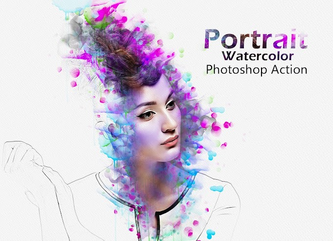 Portrait Watercolor[Photoshop][Action][5204400]