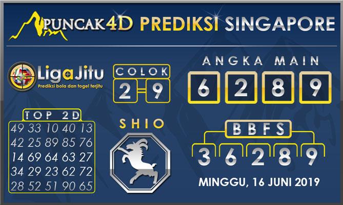 PREDIKSI TOGEL SINGAPORE PUNCAK4D 16 JUNI 2019