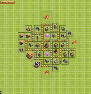 Base Clash of Clans Terbaik TH 5 Farming