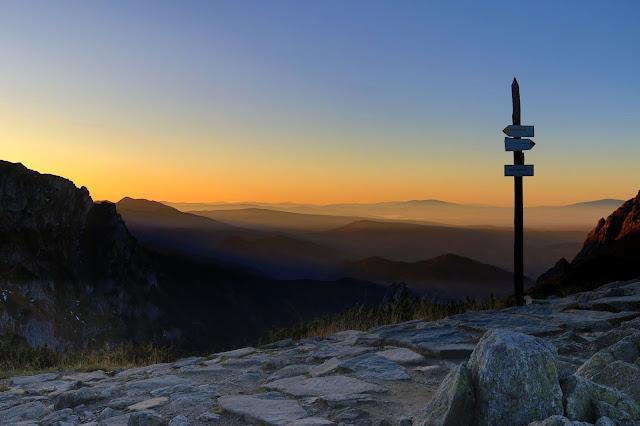 Zachód słońca na Kondrackiej Przełęczy