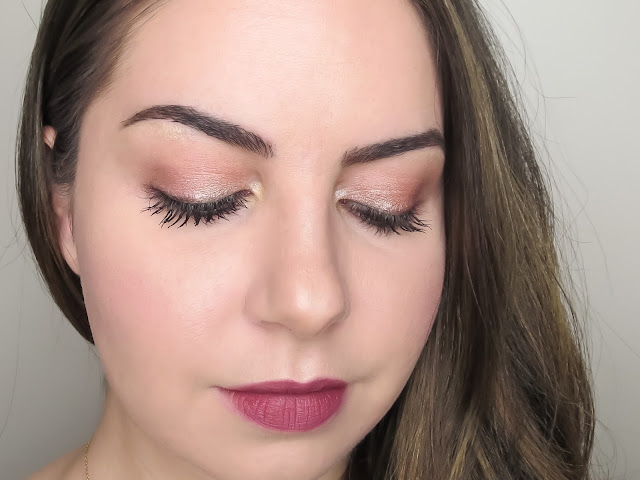 a picture of Too Faced Sweet Peach Palette Makeup Look (Peach Bellini)