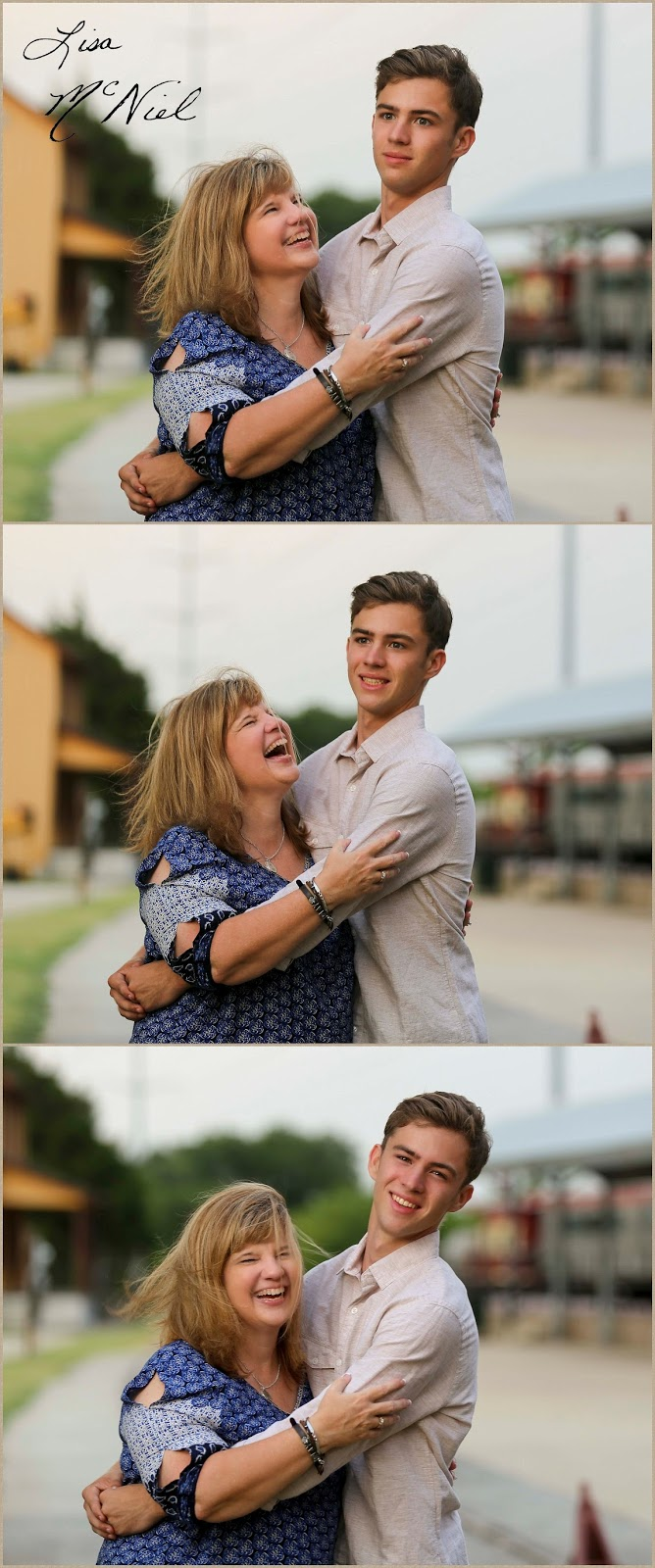 silly senior photo with mom