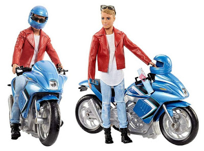 Pink Passport Ken Doll with Motorcycle
