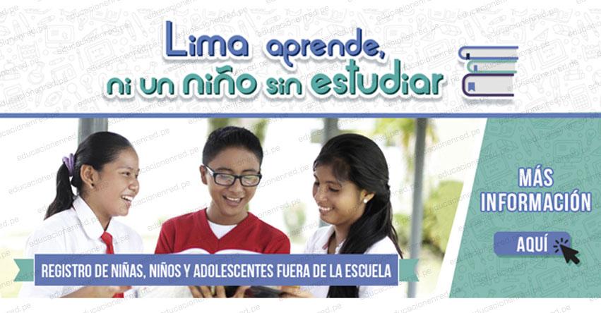 MINEDU publicó el Registro de Niñas, Niños y Adolescentes Fuera de la Escuela - www.minedu.gob.pe