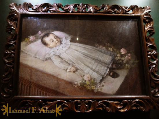 Painting of the dead child in the Philippine National Museum