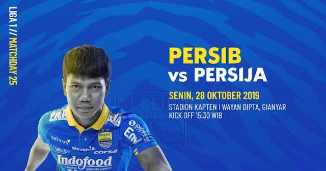 Jadwal Kick-off Persib Bandung vs Persija Jakarta Berubah