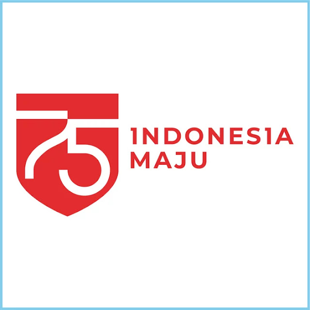 Dirgahayu HUT RI ke-75 Indonesia Maju Tahun 2020 Official Horizontal Logo - Free Download File Vector CDR AI EPS PDF PNG SVG
