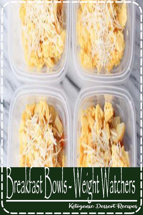 Breakfast Bowls - Weight Watchers Freestyle. Meal prep directions included - makes breakfast for 6 days!