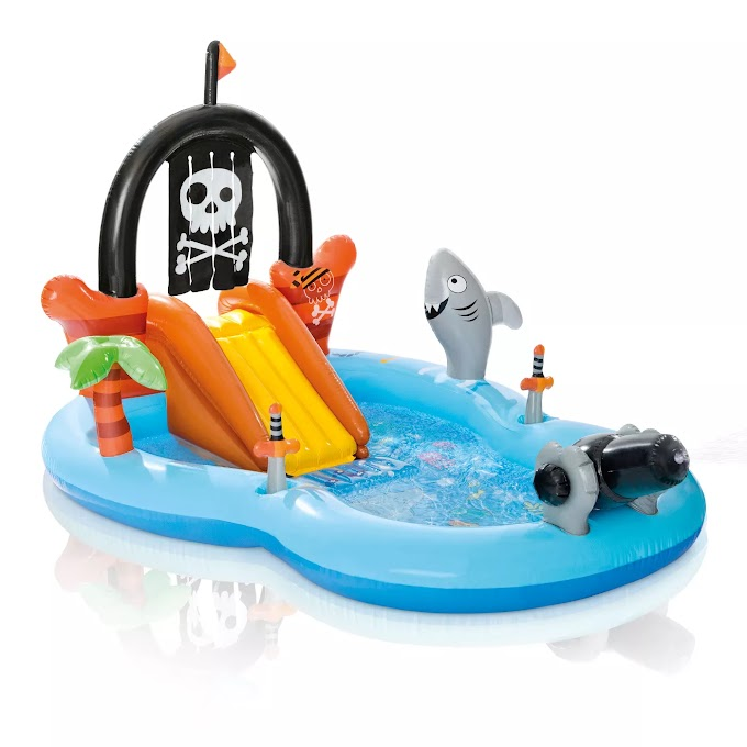 """Target - Intex 97"""" x 76"""" x 59"""" Pirate Play Center Inflatable Pool with Sprayer"""