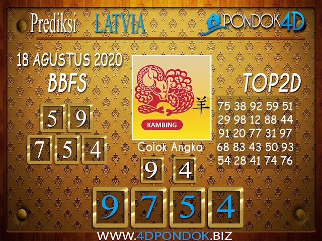 Prediksi Togel LATVIA POOLS PONDOK4D 18 AGUSTUS 2020