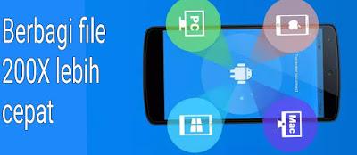 Download shareit, cara berbagi file lebih cepat 200 kali lipat / 20 mbps dengan shareit.