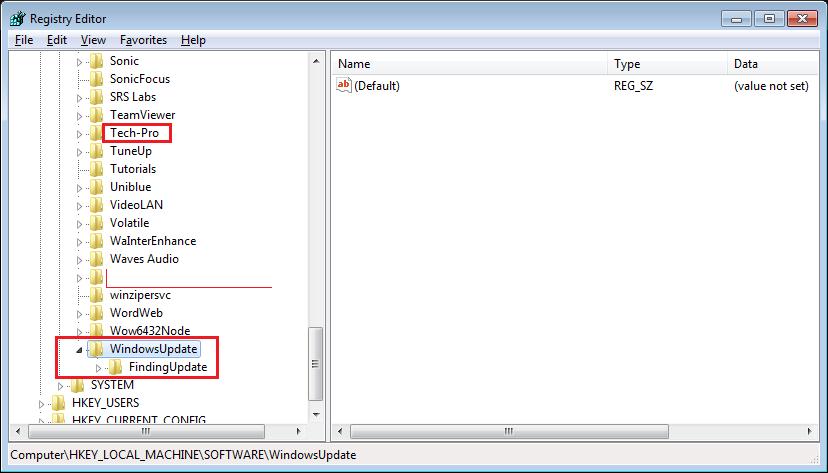 Pop-ups generating Adware FindingUpdate in Registry