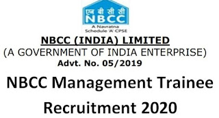NBCC Management Trainee Recruitment 2020