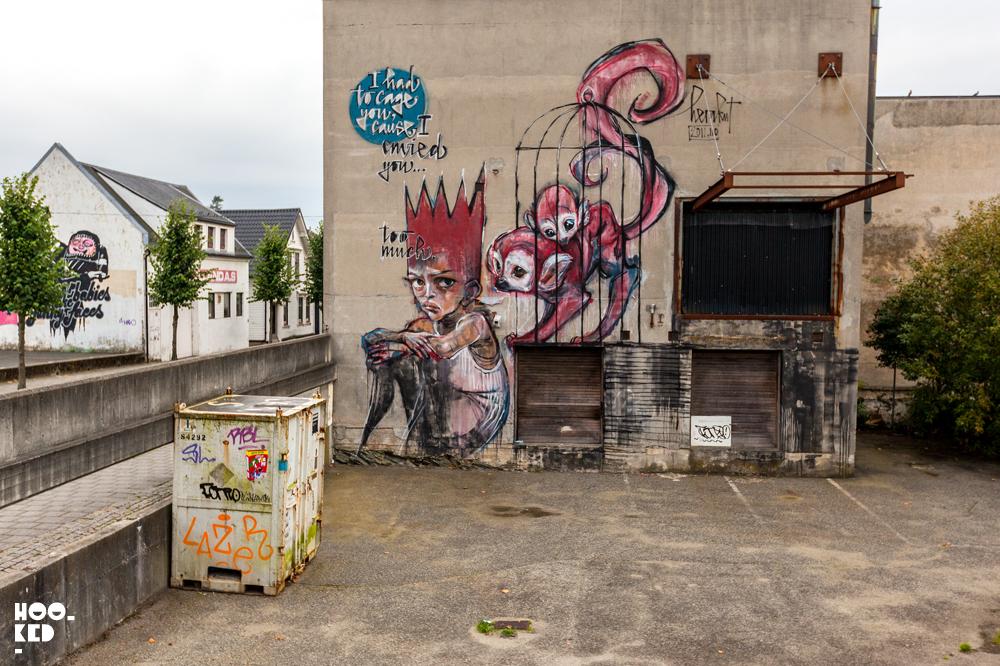 Norway Street Art, Stavanger - Herrakut Mural