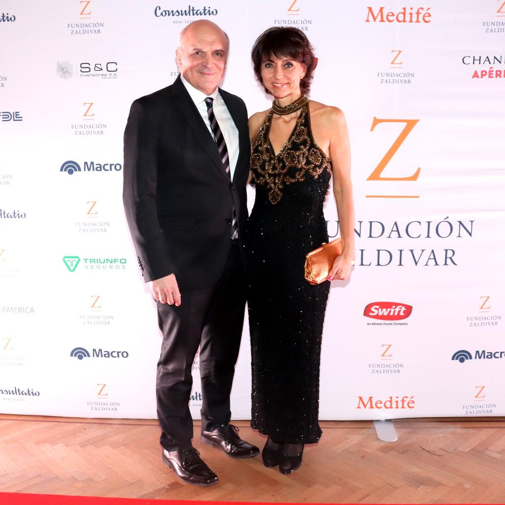 José Luis Espert y María Mercedes González en la Gala Anual a beneficio de Fundación Zaldivar