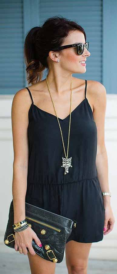 Black Romper Summer Outfit Wear to Try #SummerOutfit