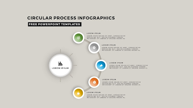 Circular Process Diagram Infographic Free PowerPoint Template Slide 1