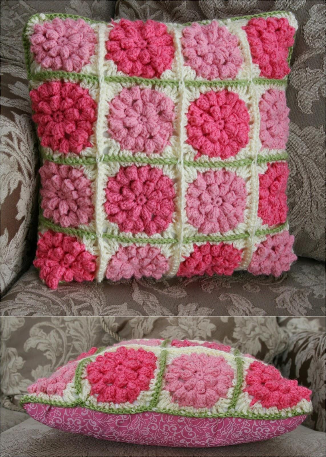 Flower Pillow Free Crochet Pattern