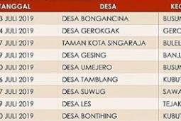 Jadwal Samsat Keliling Buleleng Juli 2019