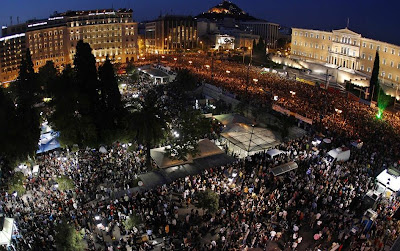 Greek Demonstration June 2011 - Syntagma (Constitution) Square Athens - I.M.F. GET OUT