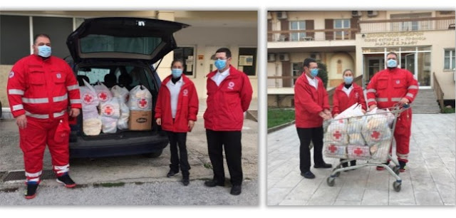 Προσφορά τροφίμων στο Γηροκομείο από τον Ερυθρό Σταυρό Ναυπλίου