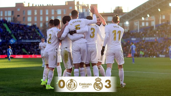 Getafe 0-3 Real Madrid, Modric Scores As Los Blancos Start 2020 With A Win (Highlights, Full Results)