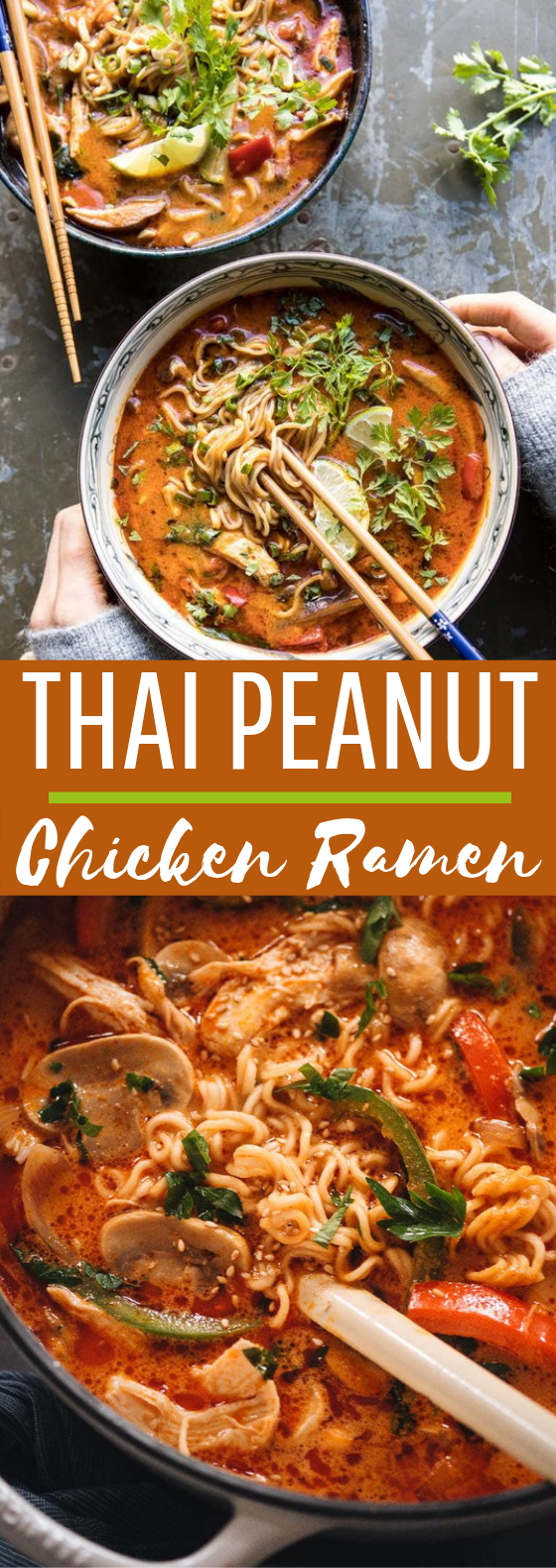 30 Minute Thai Peanut Chicken Ramen #dinner #noodles