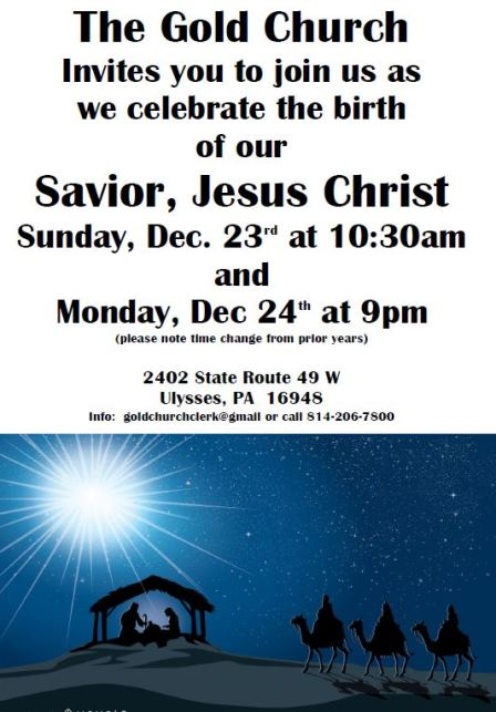 12-23/24 Gold Church Christmas Program.