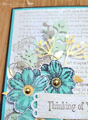 Rhapsody in craft, Coastal Cabana, Thinking of you cards, Thinking of you, Quiet Meadow Bundle, Quiet Meadow Dies, Quiet Meadow, Timeworn Type 3DEF, Blackberry Beauty Ephemera Pack, #colourcreationsbloghop, Stampin' Up