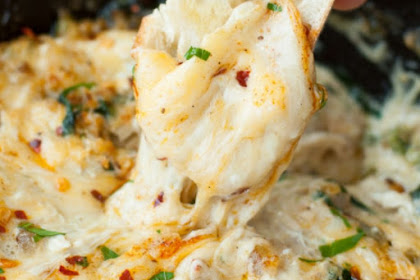 Baked Seafood Dip With Crab Shrimp And Veggies