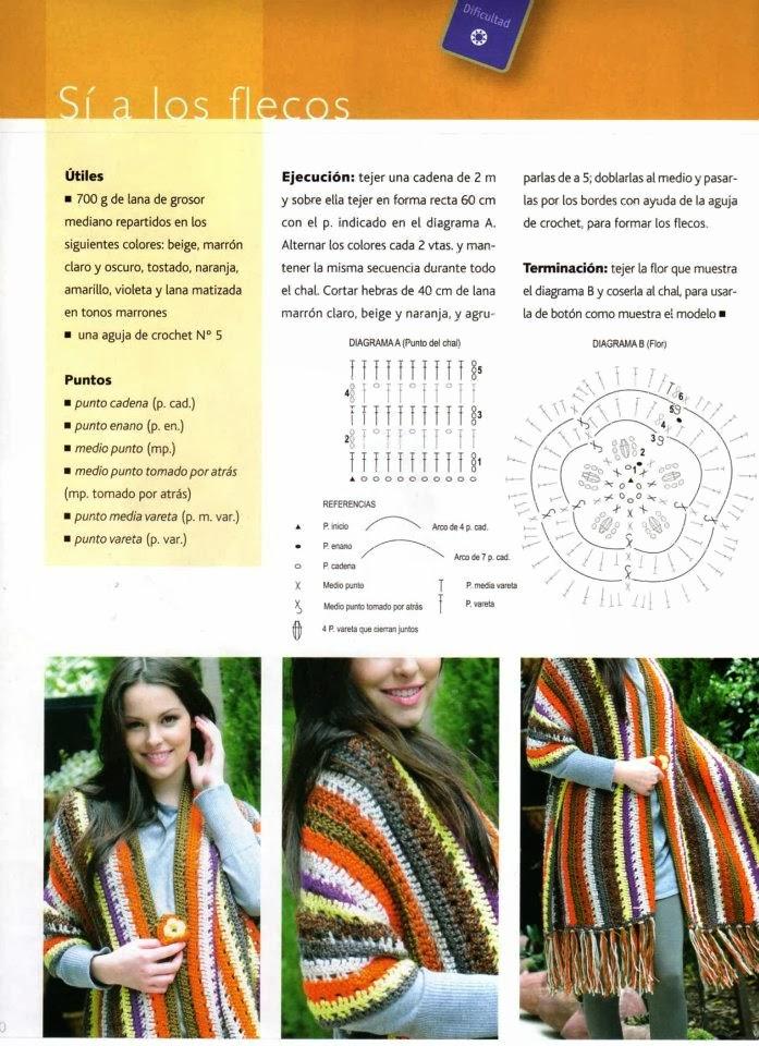 Magnífico Los Patrones De Crochet Libre Para Chales Para ...