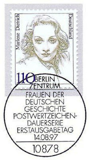 1997 Germany Marlene Dietrich With Berlin First Day Special Cancellation