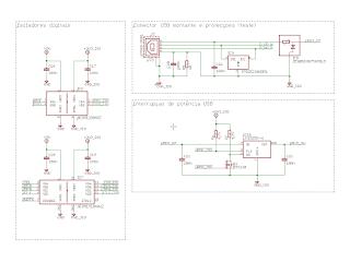Circuitos de isolamento e de interrupção da linha de potência do barramento USB.