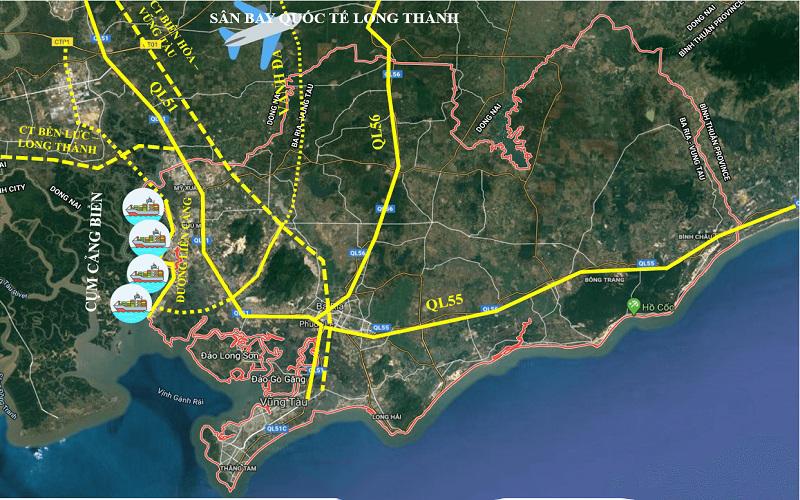 Bản đồ quy hoạch giao thông Bà Rịa – Vũng Tàu