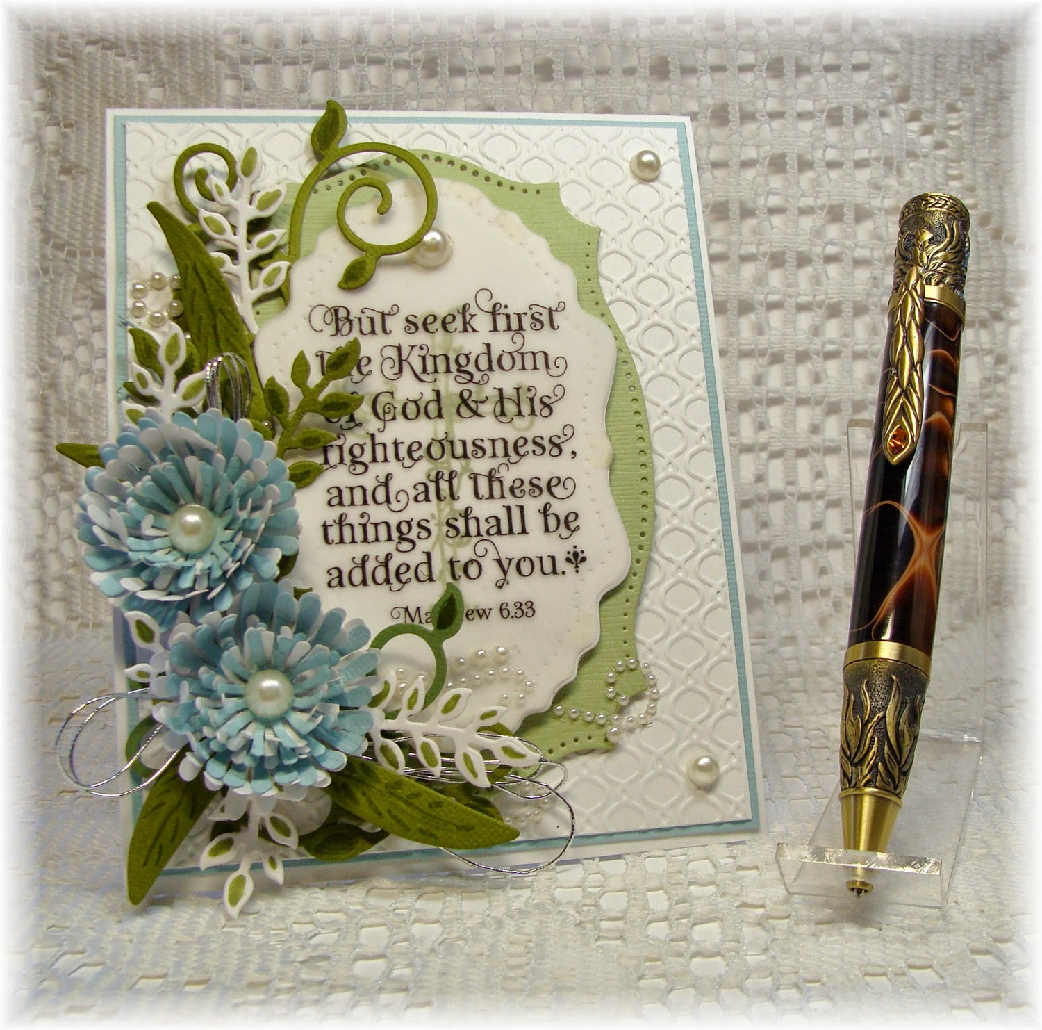 Our Daily Bread Designs, Cross with Vines, God Verses,Aster, Fancy Foliage, Vintage Flourish Pattern, Spellbinders Labels 25, Designed by Chris Olsen, Twinkles Glow With stamps, Chisel Ink N More on Etsy, Phoenix turned pen